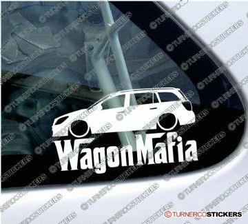"LOW Vauxhall / Opel Astra H MK5 Estate "" Wagon Mafia "" Lowered car outline stickers (1)"